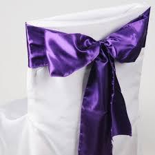 purple chair sashes purple satin chair sash 10 pieces