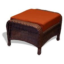 Patio Chairs With Ottomans tortuga outdoor lexington wicker ottoman wickercentral com