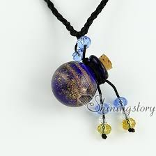 wish bottle necklace images Glitter essential oil diffuser necklaces small wish bottle jpg
