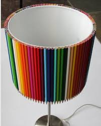 Creative Lamp Shades Colored Pencil Lamp Shade By Lampshadecentral On Etsy Cute Lamp