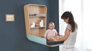Baby Changing Table Wall Mounted Baby Changing Station Comfortable And Helpful Nursery Room Furniture