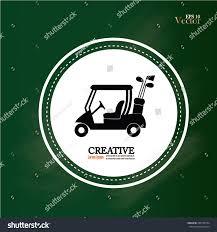 gulf car logo golf cart on chalkboard golf cargolf stock vector 289158794
