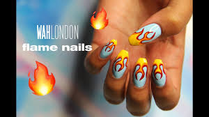 flame nail art wah london youtube