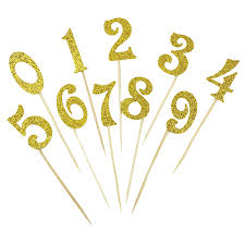 cake topper numbers cake topper kit gold glitter numbers