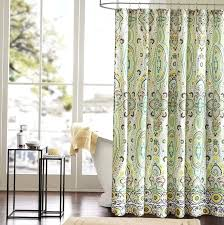 Fabric Shower Curtain With Window Extraordinary Fabric Shower Curtains Glass Window Corner Table