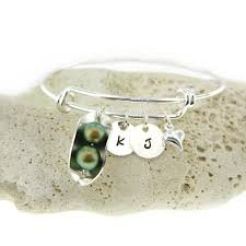 peas in a pod charm jc jewelry design two peas intwo peas in a pod adjustable bangle