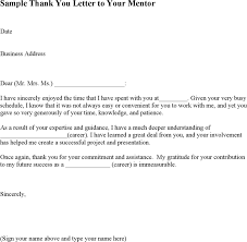 download sample thank you letter to your mentor for free tidyform