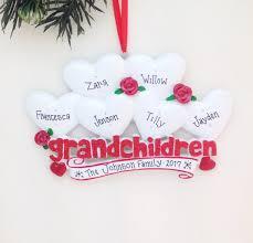 Grandparent Ornaments Personalized 6 Grandchildren Personalized Christmas Ornament Grandparents