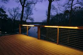 two of the year u0027s biggest trends cable rail and deck lights