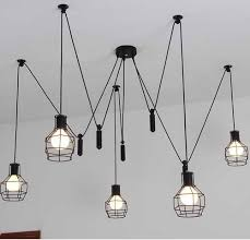 fashion new industrial country style iron frame pendant lights art