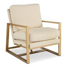 Ivory Accent Chair Gold Accent Chair