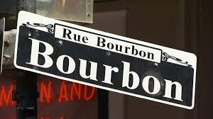 bourbon sign rue bourbon sign quarter new orleans louisiana