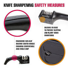 how to sharpen kitchen knives at home amazon com prioritychef knife sharpener 2 stage sharpening