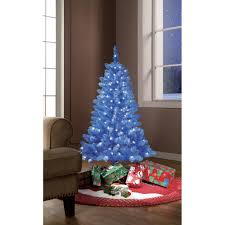 pre lit 4 blue tinsel artificial tree decor home room