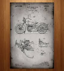 Harley Davidson Patio Lights by Harley Davidson Motorcycle Patent Art Print Set Art Prints