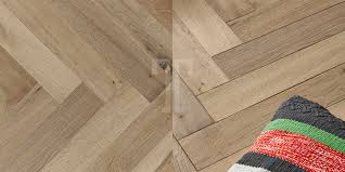 Herringbone Laminate Flooring Raw Cotton Herringbone Light Brown Grey 3 Layer 15mm Engineered