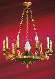 French Empire Chandelier Lighting Empire Chandelier Federal Or French Empire Swan Arm Chandelier