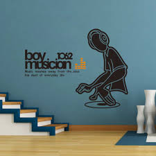 boy musicion wall sticker peel and stick dj boy wall decal quotes boy musicion wall sticker peel and stick dj boy wall decal quotes diy removable music room creative vinyl stickers home decor in wall stickers from home