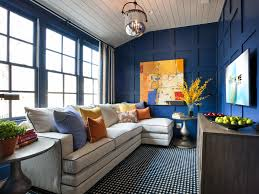 Cool Bedroom Ideas by Ritzy Interior With Large Blue Wall And Black Motif Carpet Under