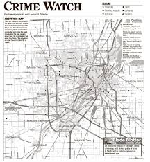 Toledo Map Suburban Crime Log 7 15 The Blade