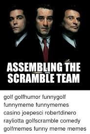 assembling the scramble team golf golfhumor funnygolf funnymeme