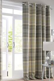 Grey And Green Curtains Buy Green Woven Check Milton Eyelet Curtains From The Next Uk