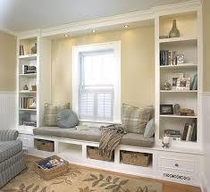 under window bookcase bench love the extended length of the seat and the covers below to reroute