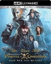 pirates caribbean dead men tales 4k blu ray