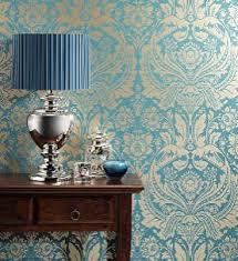 1 wallpaper 1 turquoise damask wallpaper bedroom makeover