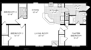 100 14x70 mobile home floor plan able housing inc on site