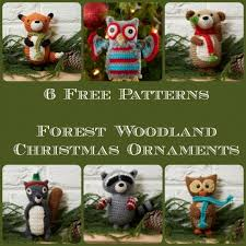 free patterns woodland ornaments crochet
