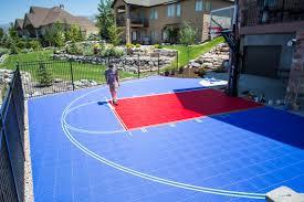 backyards cozy outdoor bounceback backyard basketball court