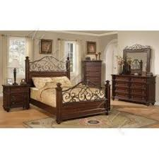 Iron Bed Set Wood And Wrought Iron Bedroom Sets Foter