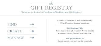 gift register registry au lit linens