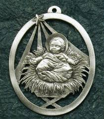 Pewter Christmas Ornaments That Are Religious At