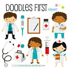 Doctor And Nurse Little Doctors And Nurses Digital Clip Art For Scrapbooking