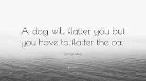 george mikes quote u201ca dog will flatter you but you have to