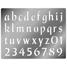 printable letter stencils embossing stencil lower case bold