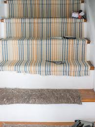 upcycle woven table runners into a durable stair runner hgtv