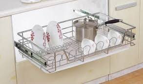 Kitchen Cabinet Plate Organizers Hpj602 Kitchen Cabinet 3 Tier Drawer Organizer Basket Buy