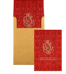 Wedding Invitation Hindu Ganesh Purple Ganesha Wedding Card In Purple And Golden Colour