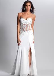 dave u0026 johnny 8896 ivory beaded chiffon and lace prom dresses