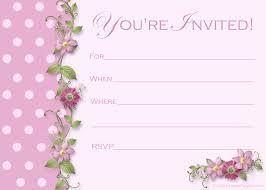 brilliant free printable birthday invitation templates saflly