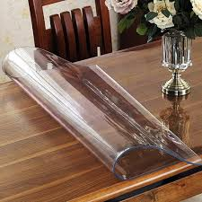 thick clear vinyl table protector ostepdecor custom 1 5mm thick crystal clear pvc table protector