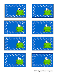 free printable baby shower labels with frog