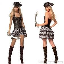 2017 women female pirate costume halloween fancy party dress