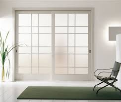 etched glass exterior doors modern interior sliding door featuring an inset acid etched glass
