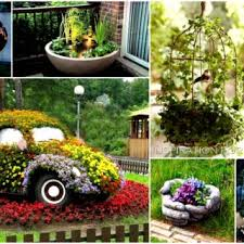 Diy Craft Projects For The Yard And Garden - teacup tyre planters guides inspiring ideas