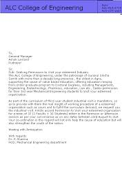request letter for mba project