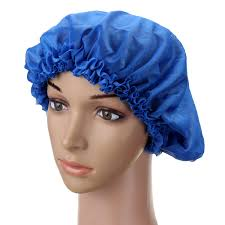 silk waterproof shower cap hair bathing caps sleeping